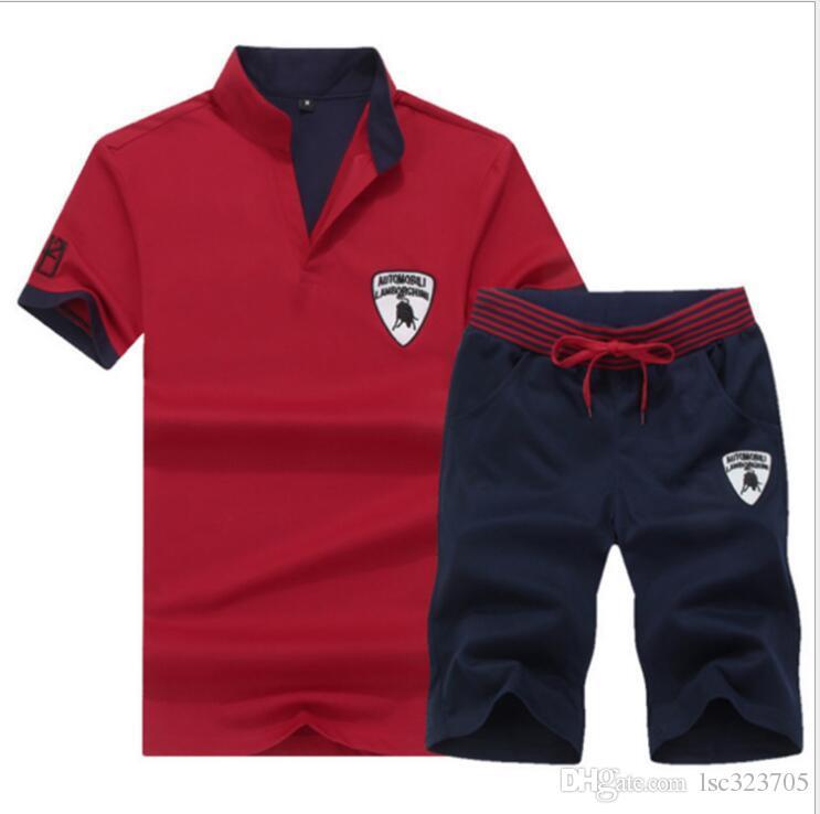 Brand 4XL New Mens Short Sleeve Sportwear Suit Summer Fashion Printing Cool Casual Short Sets Men Leisure Suits AF1790