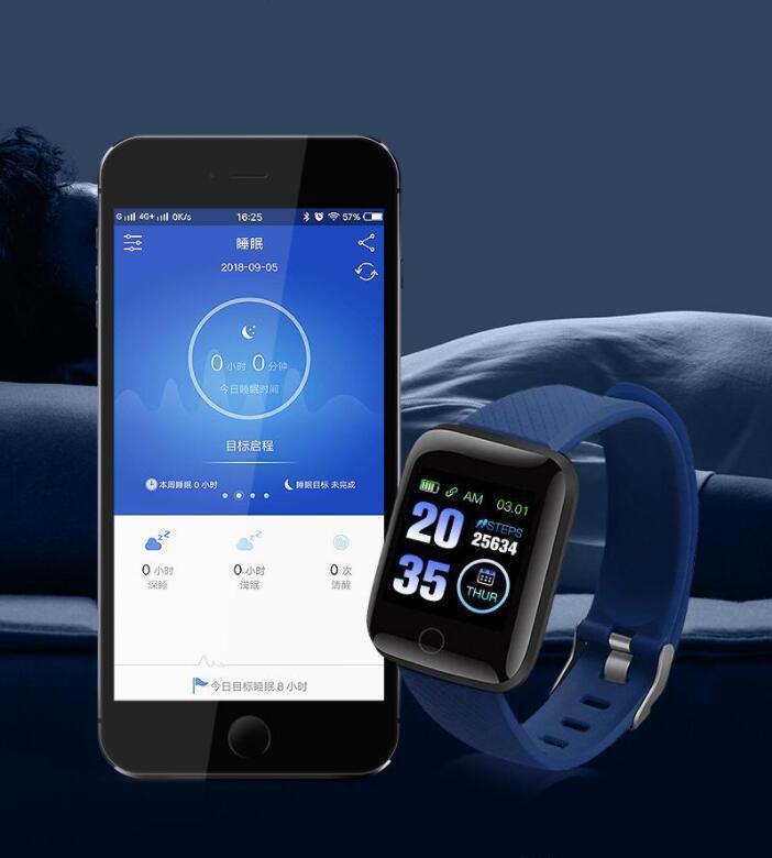 Taxa Hot Selling ID116 PLUS inteligente Pulseira de Fitness Tracker com coração inteligente Pressão Arterial Pulseira 116 PLUS F0 para Fitbit MI Banda 116Plus