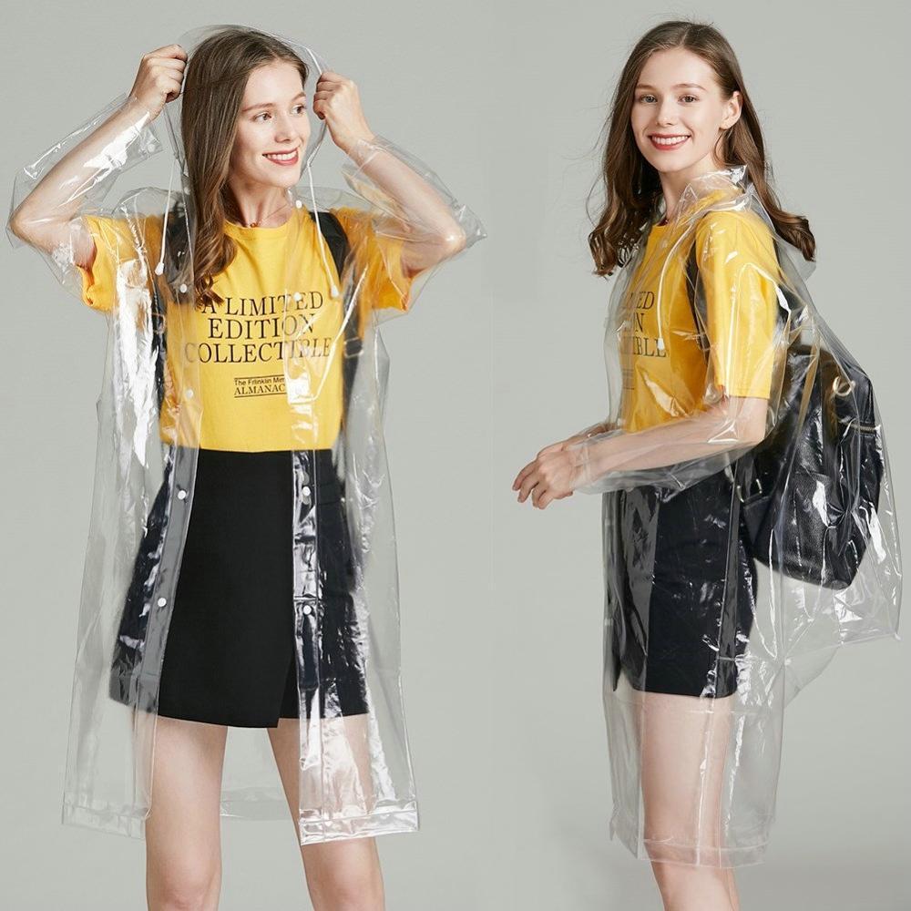السيدات شفافة معطف واق من المطر النساء الإناث معطف المطر phoco السفر للماء خندق Chubasqueros عرض الأزياء