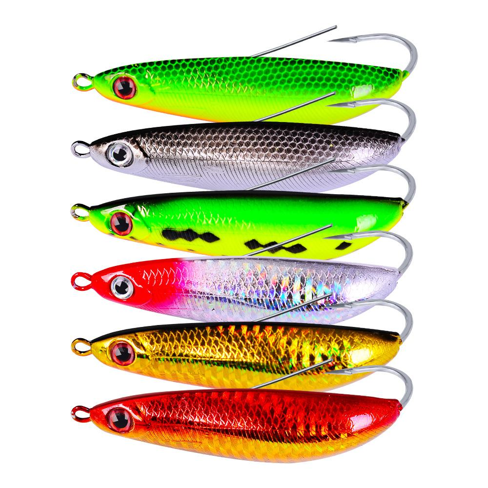 Bionic Realistic Fish Body Popper jigging hooks fishing lure 20g 9cm 3D Eyes Spinner Crank bait with box package