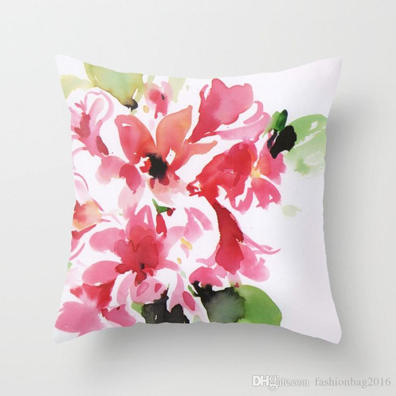 1pc 14 styles Vintage peach fleece pillowcase for sofa back rest and car back rest size: 45cm*45cm, no core included