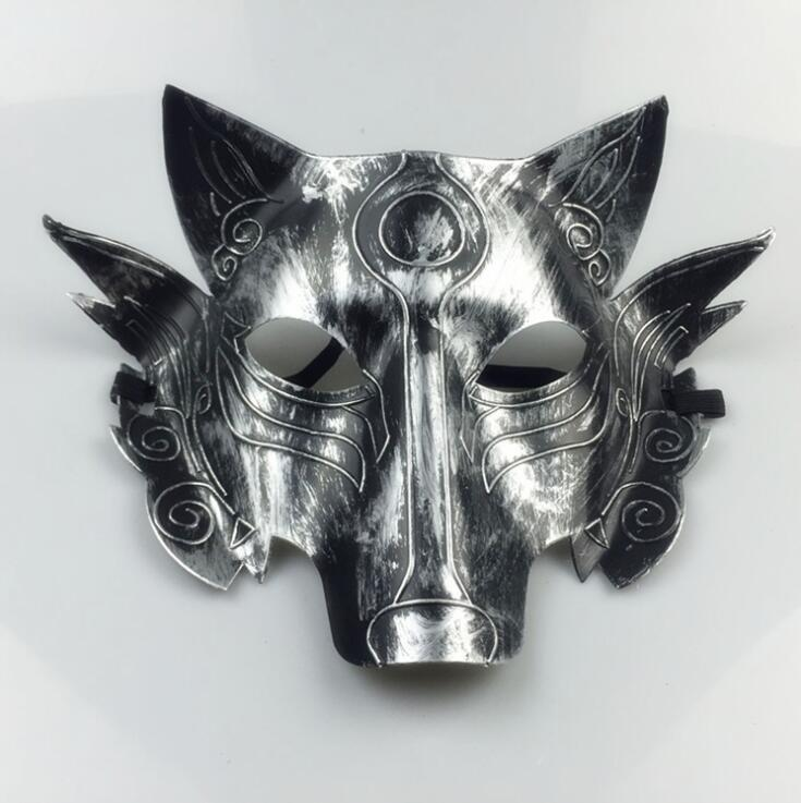 Thick Wolf Mask Pure Color Horror Costume Wolves Masks Halloween Masquerade Masks Party Decoration Adult Children LXL689