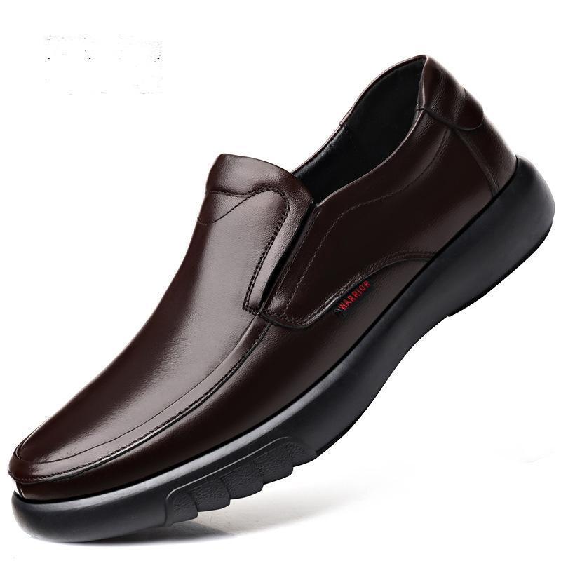 Erkek Gerçek Deri Ayakkabı Büyük Boy 38-47 Kayma-on loafer'lar Erkek Deri Casual Ayakkabı Moda Kış Isınma ayakkabı 2020 Yeni