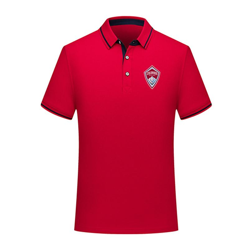 2020 MLS Колорадо футбол Поло рубашка футбол с коротким рукавом поло мода спортивные тренировки поло футбол Футбол футболка Джерси мужские Поло