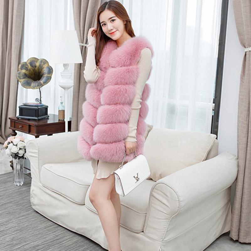 Женщины искусственного меха жилет пальто Зимняя куртка без рукавов манто фам пчеловод S191023