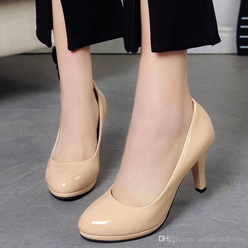 Women Shoes High Heels Pumps Woman White Wedding Shoes Office Lady Dress Shoes Slip on