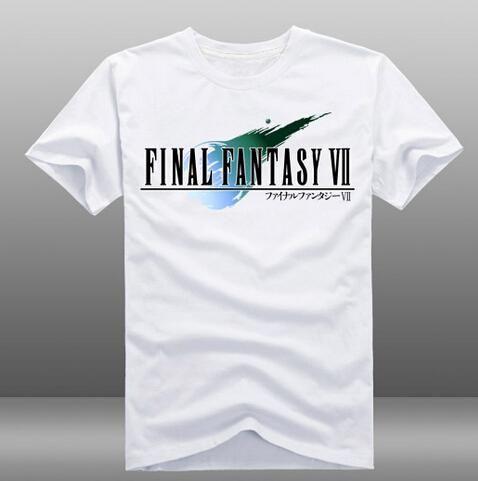Mens Jogo Final Fantasy VII FF7 camisetas brancas de manga curta O-Neck Tops T Shirts 3 estilos verão anime