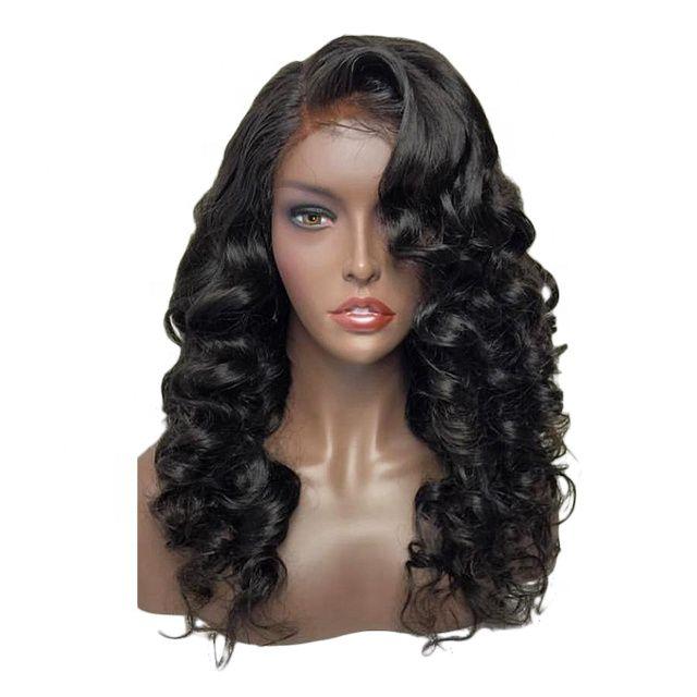 Frente Humanos pelucas de pelo del cordón frontal de la peluca 360 13 * 4 brasileña onda del cuerpo del cabello humano pelucas Por Negro mujeres con el pelo del bebé