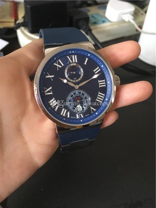 Sıcak satış Erkek Saatler mavi lastik adam izle mekanik Otomatik stil kol saati 030