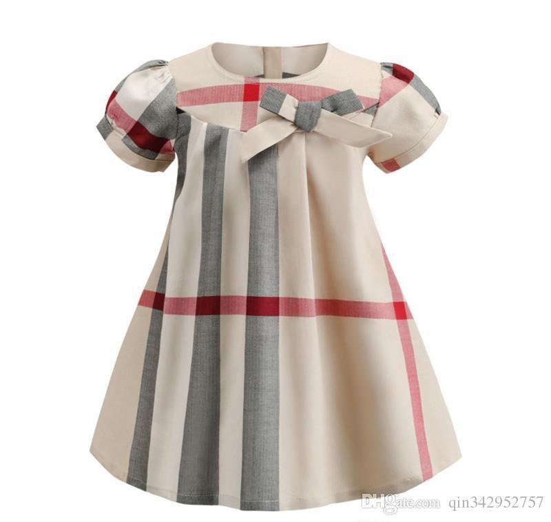 2019 NUOVE ragazze popolari di modo vestono il vestito dal grembiule di stile coreano del progettista del modello del plaid della manica corta