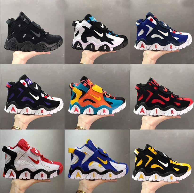 02 Nike Высокого качество воздух Barrage Mid быстротемповой QS обувь Скотти Пиппен воздух 2,0 повседневной обуви мужских fashiong кроссовок