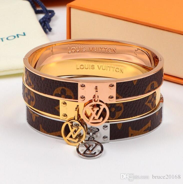 Runder Anhänger Nietarmband klassischer europäische Art und Weise neues Armband Paar Schmuck GroßhandelLV