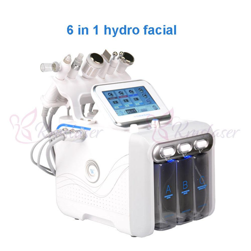 6 IN 1 Hydra Facial Machine RF skin rejuvenaiton Microdermabrasion Hydro Dermabrasion Bio-lifting wrinkle removal hydrafacial Spa Machine
