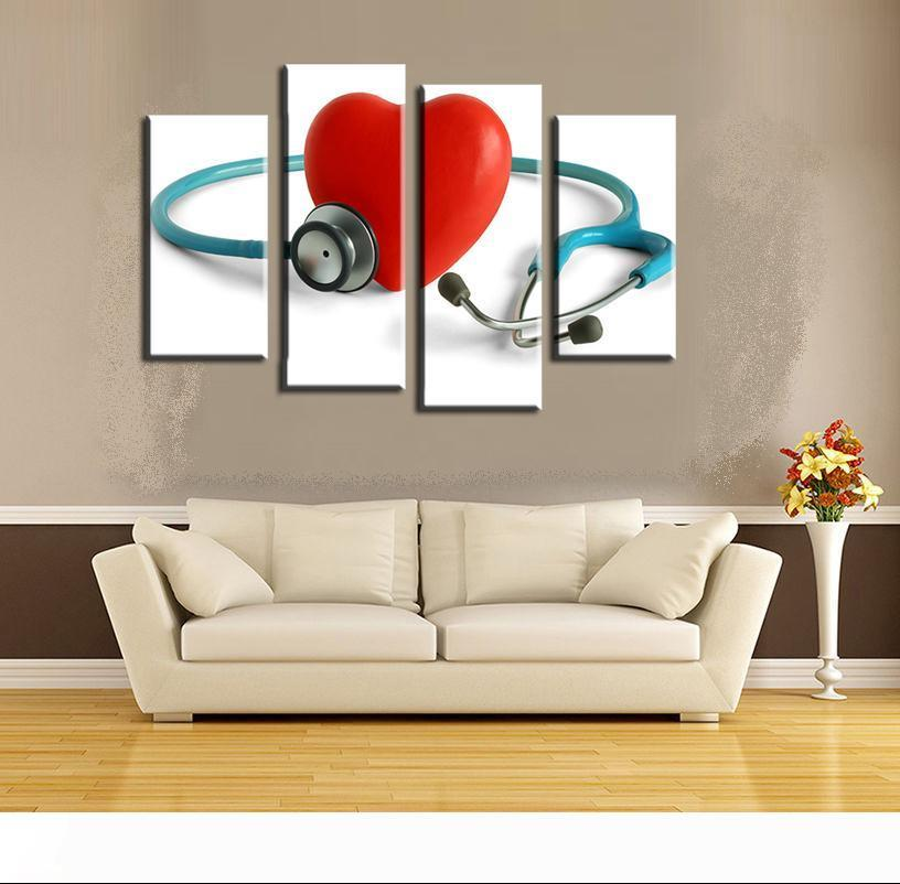 2020 Stethoscope Red Heart Wall Art Picture Modern Home Decoration Living Room Or Bedroom Canvas Print Painting Wall Picture From Huijuanstores 67 54 Dhgate Com
