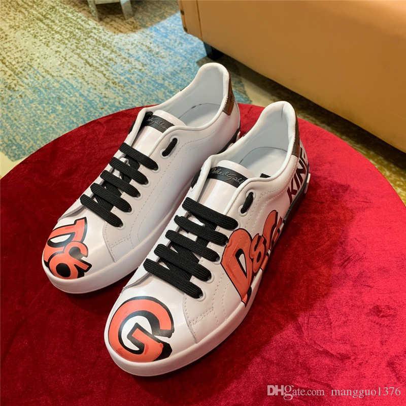 2020 New Sneaker Herren Schuhe Casual Luxury Top-Qualität schnüren sich oben Spots Herren Schuhe Chaussures hommes gießen