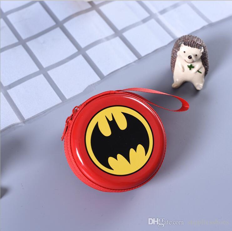 Charm Kids Cartoon Super Hero Avenger Coin Purse Wallet Headset Bag Xmas Gift