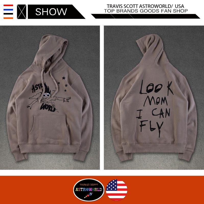 Travis Scott Astroworld hommes Designer Sweats à capuche Regardez maman JE Flyem Embroideried à capuche Casual High Street Tide Marque Pull