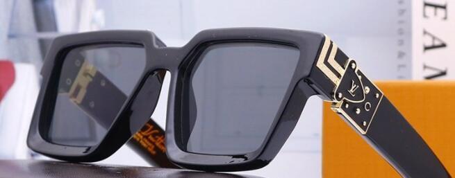 Yeni marka fashionladiesLV gündelik moda büyük çerçeve güneş gözlüğü plaka ayna legsaaa