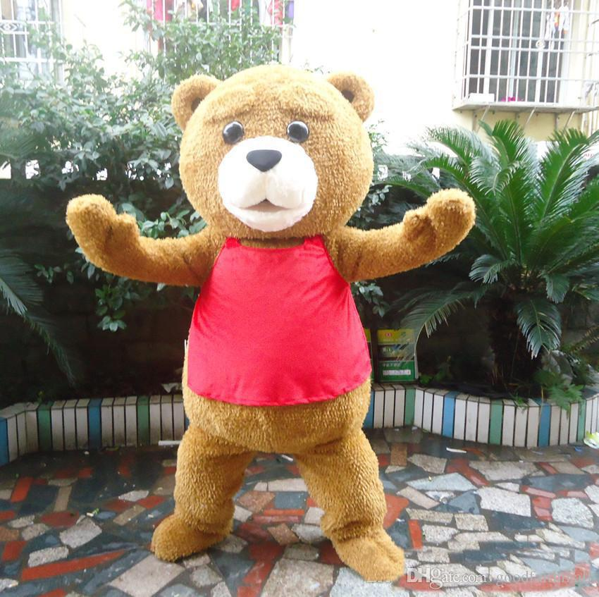НОВЫЙ ГОРЯЧИЙ талисман медведя Тедди взрослых шоу мультфильм костюм куклы наряд ходьба реквизит кукла медведь кукла