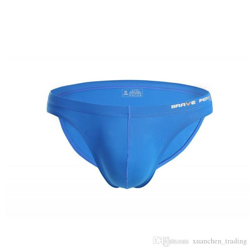 New Men's Underwear Ice silk Underpants U convex Bag Sexy Men Briefs Shorts Men's Sexy Underwear Brief Long Bulge Pouch for Man Bikini