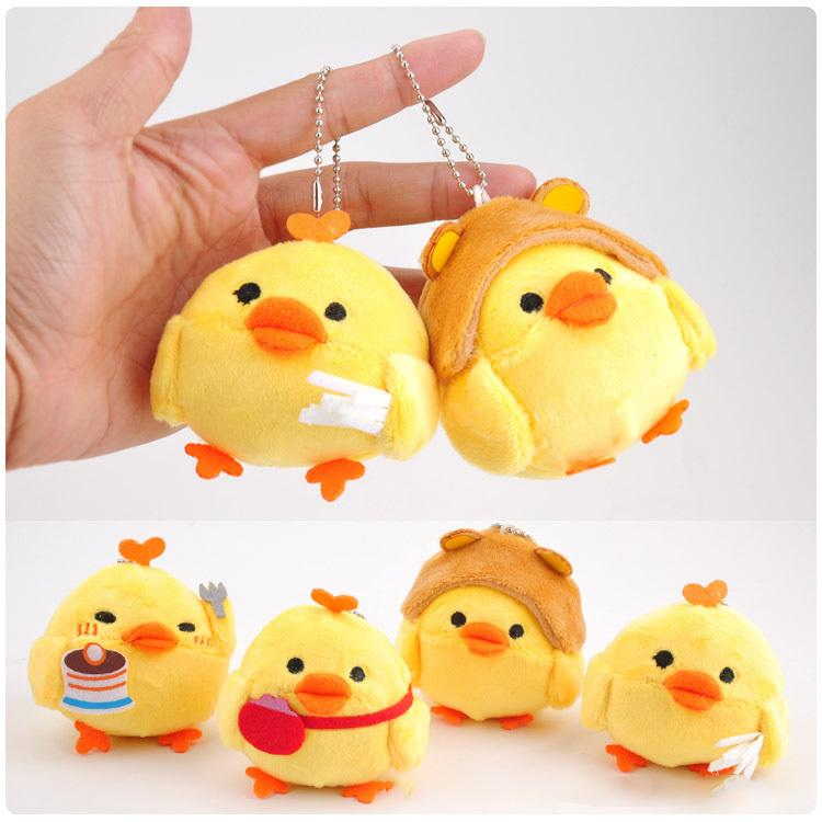 Jouet en peluche mignon poussin jaune animal Petit poulet peluche peluche porte-clé sac décoration poupée pendentif cadeau pour les enfants Enfants