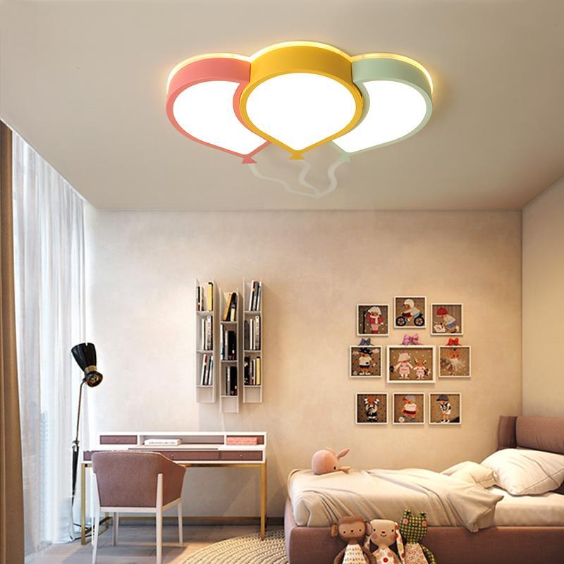 NEW Moderne LED-Deckenleuchter für Schlafzimmer Study Room-Kind-Raum für Kinder Rom Home Deco Rosa / Gelb / Grün / Deckenleuchter