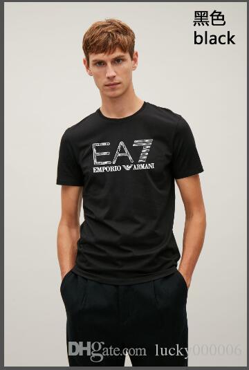 남성 크기 M-6XL에 대한 남성 디자이너 T 셔츠 남성 T 셔츠 MensEA7Clothing 여름 캐주얼 크루 넥 모달 짧은 소매 높은 품질 패션 셔츠