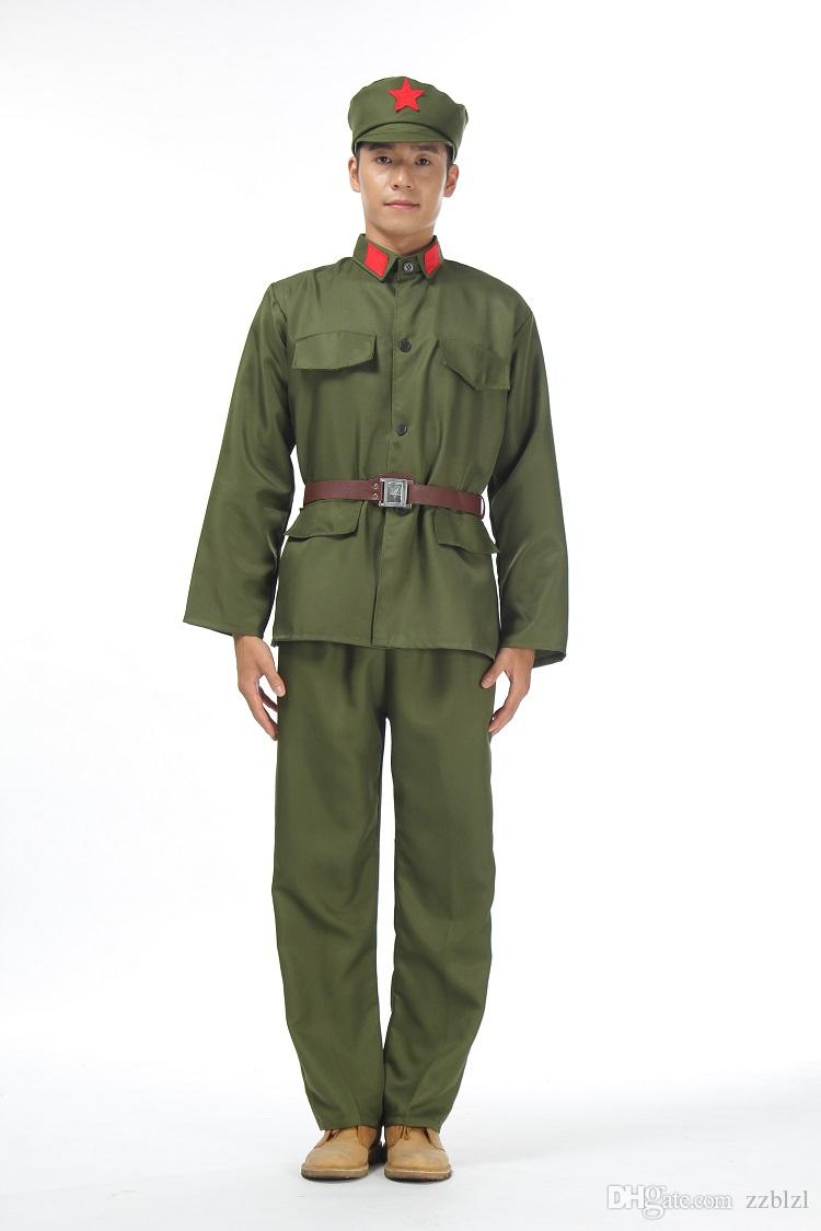2020 North Korean Soldiers Suits Stage Performance Nostalgia Costume Red Guard Clothing Ww Ii Vietnam War China Air Force Old Army Uniform From Zzblzl 39 69 Dhgate Com