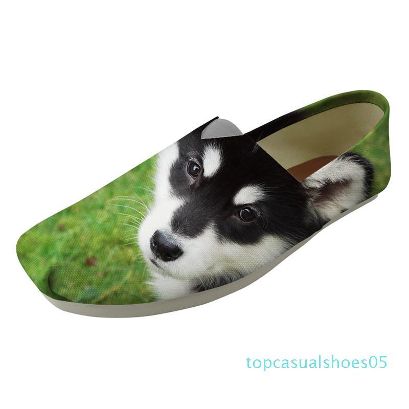 Nouveaux produits dames Mocassins Confortable précarisés Nouveau 2019 ventes exclusives Lazy Sip sur Flat Malamute d'Alaska Imprimer Chaussures T05