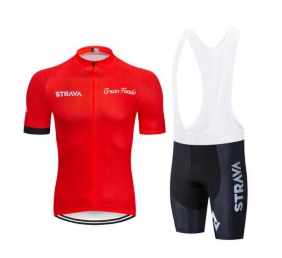2019 STRAVA Cycling Jersey Set Summer quick dry Team Bike Clothing Ropa Ciclismo MTB Bicycle Clothing Outdoor Short Sports Suit zesky