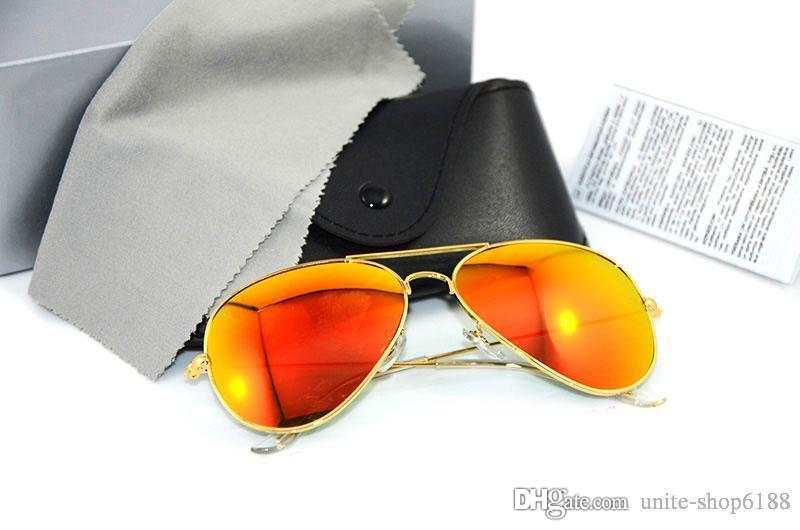 Brand sunglasses Color film Lens Designer Mens Sunglasses Mirror Sun glasses UV400 protection Womans glasses with Original cases and boxs