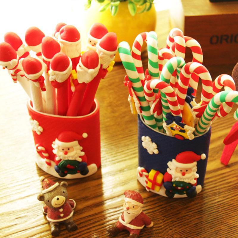 Natal Papai Noel snowmanCrutches caneta esferográfica brinquedos presentes para decoração Miúdo do Natal decoração de casa o favor de partido Xmas