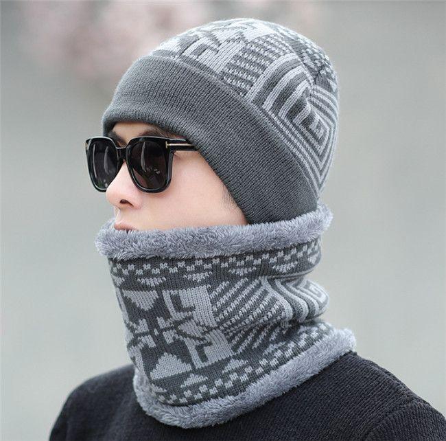 الخريف / الشتاء الجاكار ومخمل الرجال قبعة البلوز سترة قبعة الأزياء الدافئة متماسكة قبعة