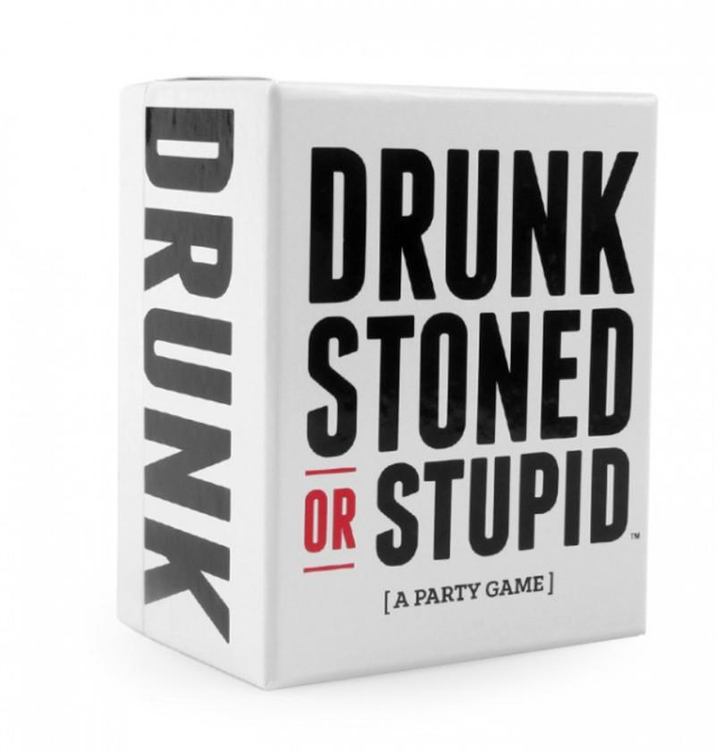 DRUNK STONED OR STUPID Card Game Play cards Anti huminity Kids Toys For Kids Social Word Game a Simple Playing Card Game Puzzles