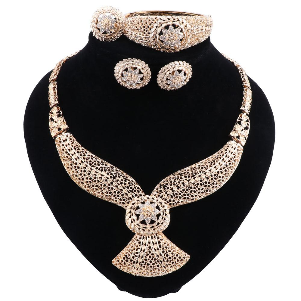Necklace Earring Ring Bracelet Jewelry Sets India Women Gift African Bridal Wedding Gifts African Beads Jewelry Sets Jewelry Wedding Sets Bridal Set From Minmin2015 9 85 Dhgate Com