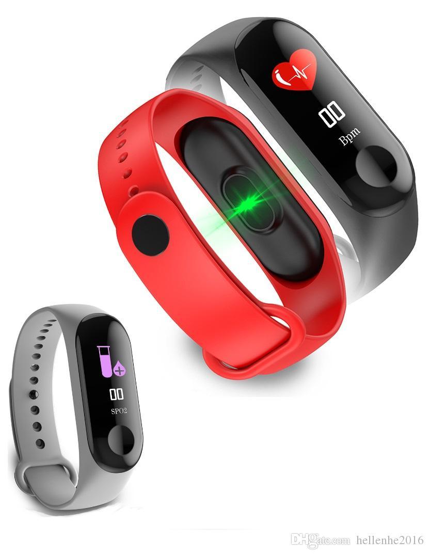 ذكية ووتش الرجال النساء القلب رصد معدل ضغط الدم اللياقة البدنية تعقب Smartwatch الرياضة الذكية مي الفرقة 3 ل IOS الروبوت