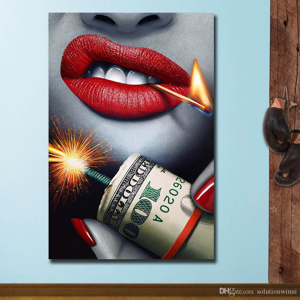 1 Piece Fashion Wall Pictures Print On Canvas Oil Painting Best Bang for Your Buck Canvas Painting Wall Art No Frame