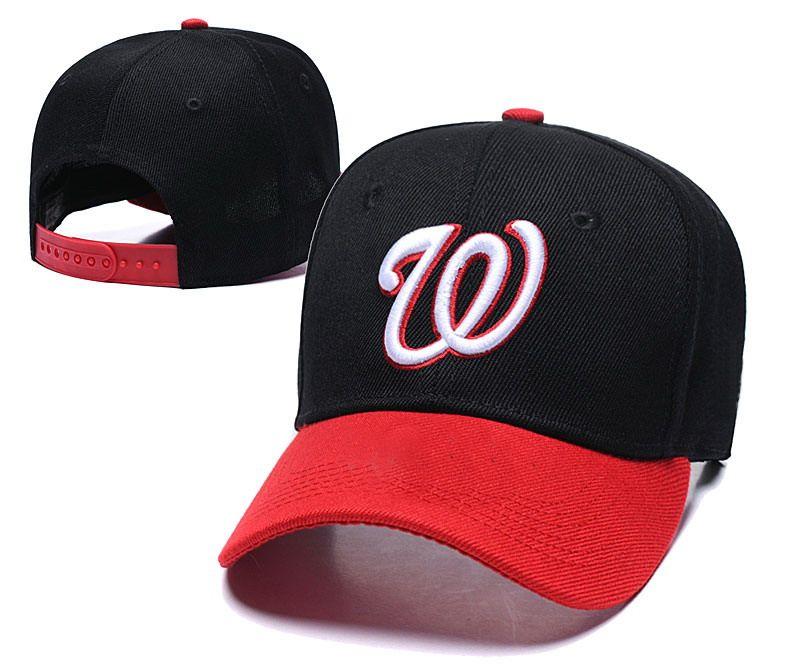 Vendita calda Washington Nationals Nero Rosso Brim protezioni registrabili 2019 Squadre Campione della serie Mondo Cappelli sportivo Snapback Cap Hat