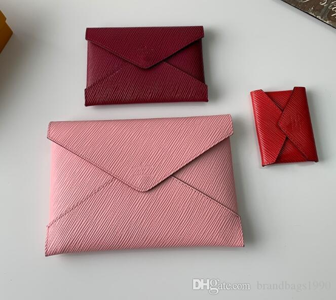 Peça de caixa Set Mulher Sacos Senhora Carteiras Long Tithers Bolsa de Passaporte Bag Moda para cartão Venha com e 3 embreagem de poeira ODGXK