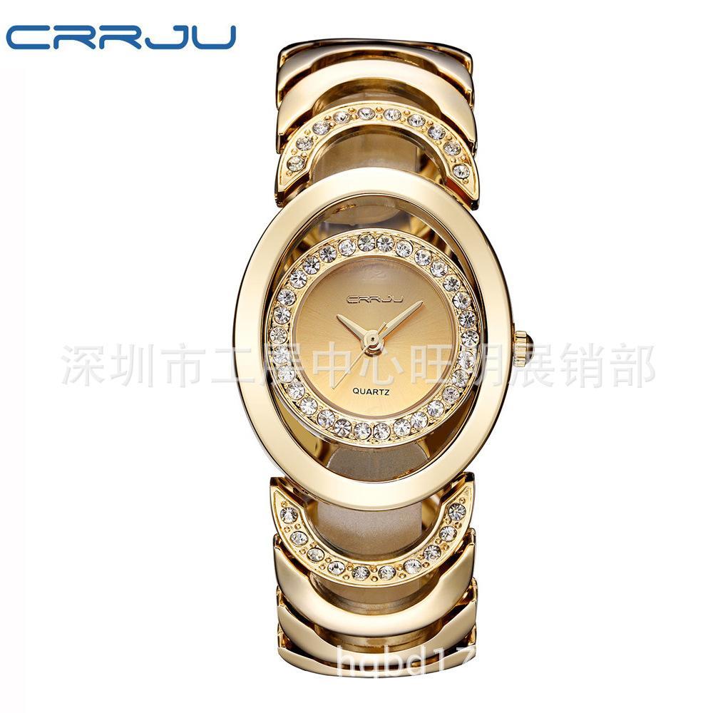 Women's waterproof Bracelet quartz strap drill casual fashion waterproof watch