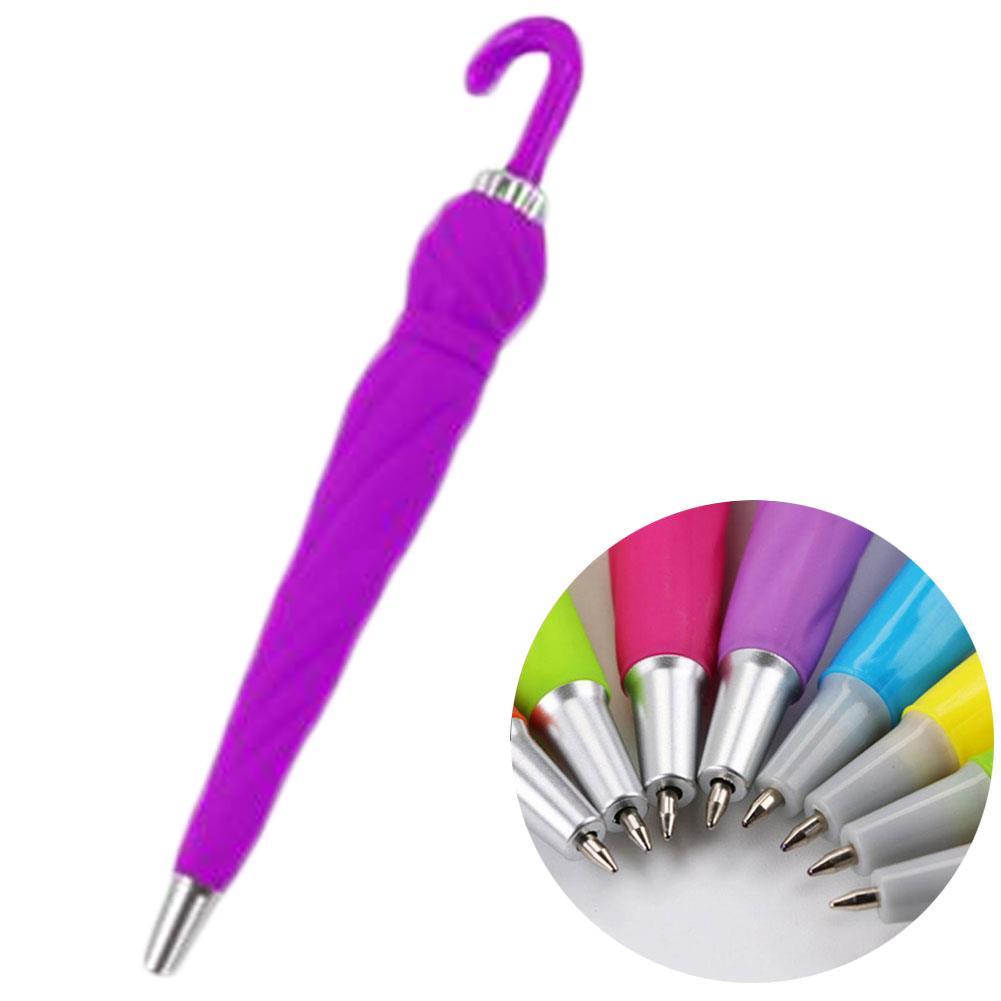 Novedad Creativa Paraguas Forma Bolígrafo Bolígrafo Útiles Escolares Estudiante Color aleatorio de alta calidad