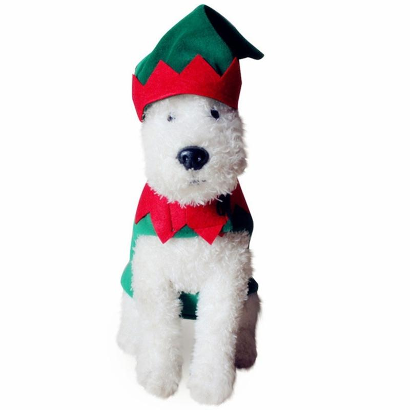 Pet Soft Clothes Christmas Costume Cute Cartoon Clothes For Small Dog Cloth Costume Dress Xmas Apparel For Kitty Dogs Dog Apparel