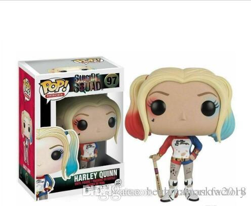 China Funko POP Suicide Squad Harley Quinn Vinyl Action Figure With Box #97 Popular Toy Good Quality Christmas