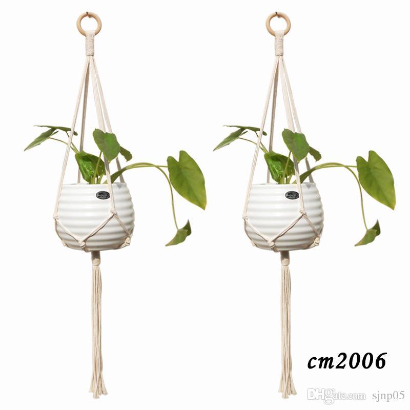 Plante en macramé coton fait main corde planteur titulaire pot de fleurs suspendus panier intérieur tentures murales Boho Home Decor
