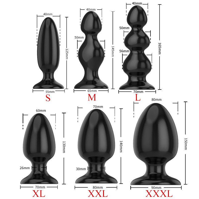Gros jouet pour adultes grandes jouets anales perles de massage de taille énorme bouchons de massage femelles hommes anus anus stimulateur expansion stimulateur de prostate sexe y20042 itjlh