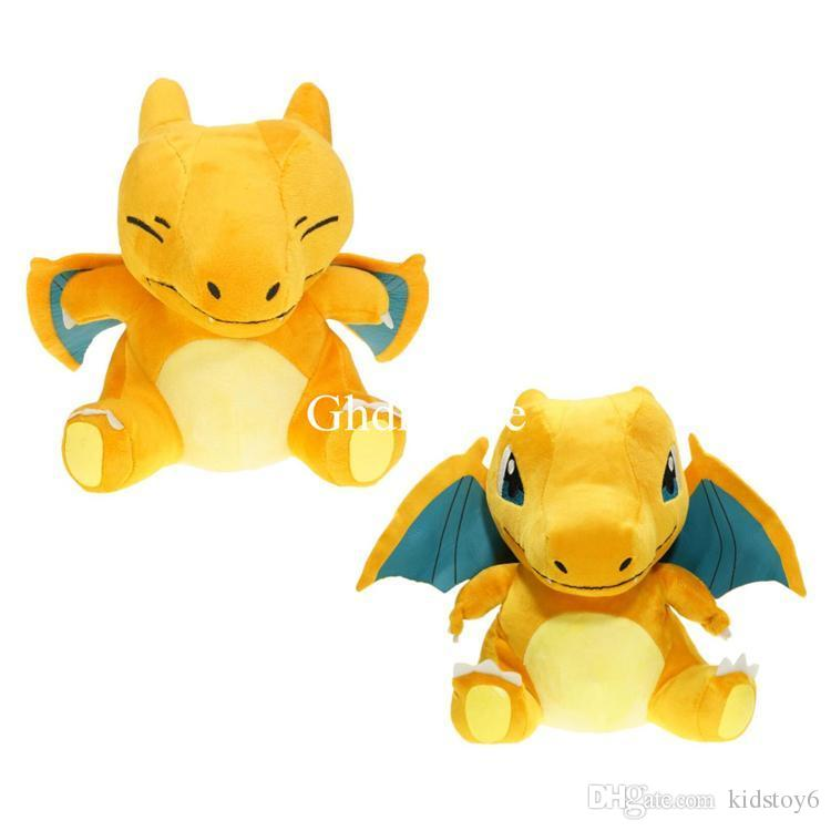 "2019 arrival Hot New 2 Styles 7"" 18CM Charizard Plush Doll Anime Collectible Soft Dolls Best Gifts Stuffed Toys"