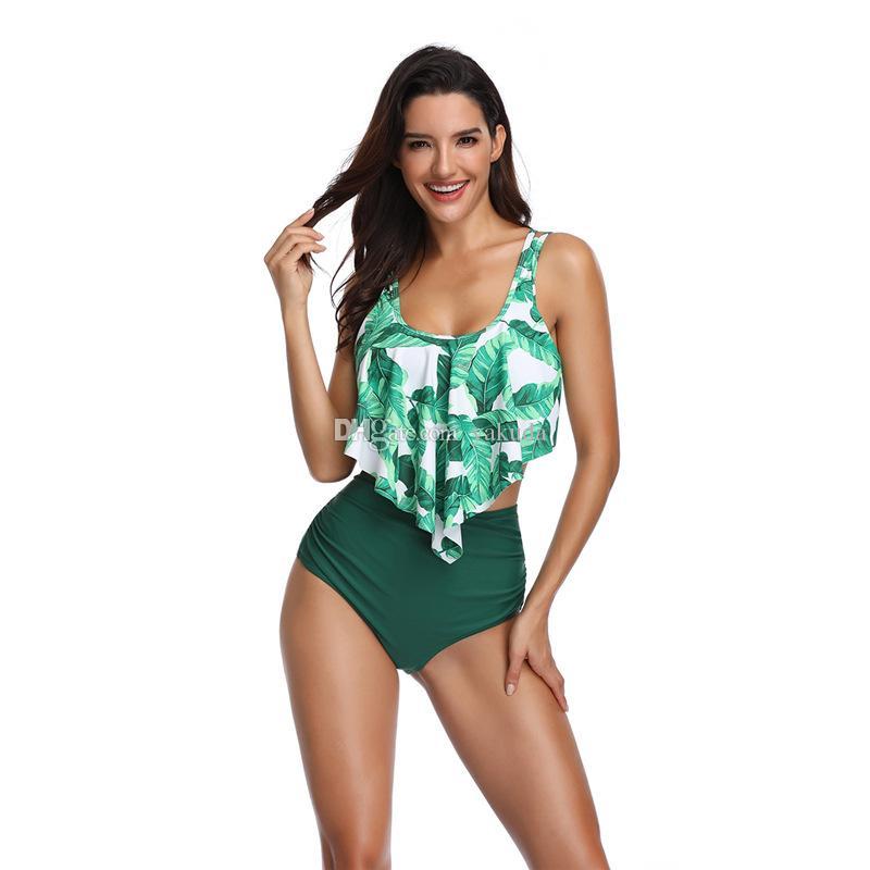 Le donne costume da bagno spaccato bordo bikini costume da bagno femminile di moda costumi da bagno a buon mercato dal famoso poco costoso di sport shopping online negozi per la vendita
