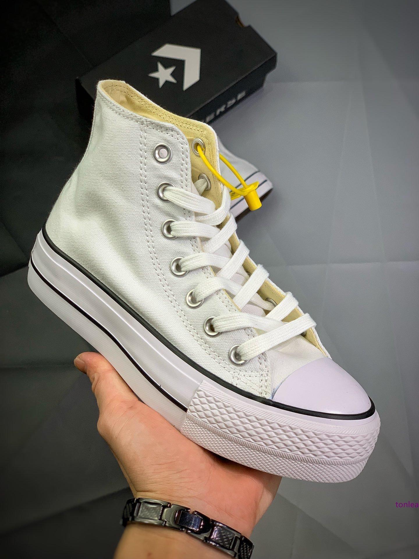 2020 Nova Chuck 10 preto Hi Plataforma Running Shoes Taylor 10S Canvas Homens Mulheres Sapatos Moda plimsolls brancos Chaussures Casual