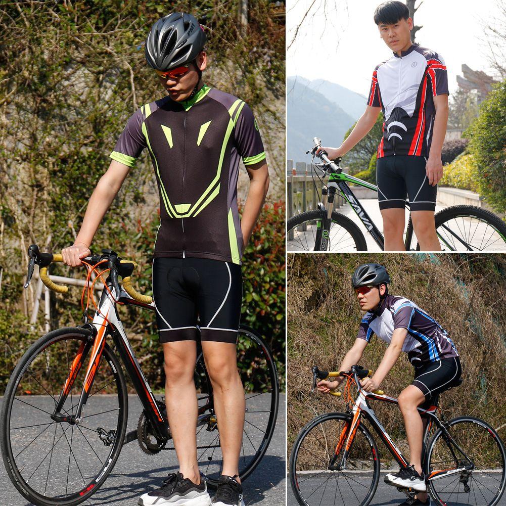 الدراجة الرجال ركوب الدراجات قمصان قصيرة الأكمام بلايز تي شيرت دراجات ملابس رياضية