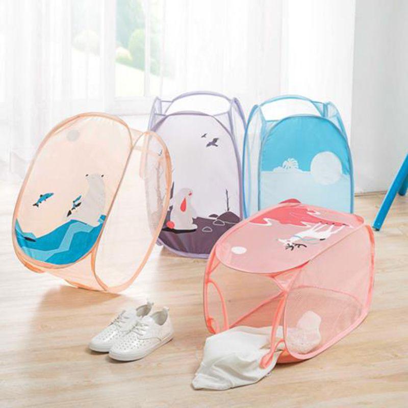 New foldable portable cartoon cute laundry bag large capacity environmentally friendly dirty clothes toys sundries storage bag
